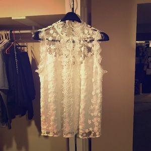 BB Dakota white lace top.